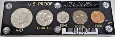 1964 US PROOF SET (SILVER 90%) PPS1404