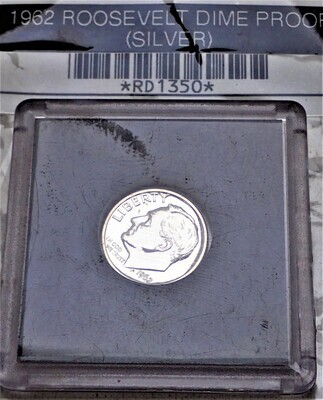1962 ROOSEVELT DIME PROOF (SILVER) PROOF RD1350