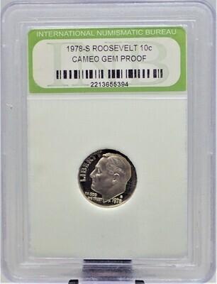 1978 S ROOSEVELT DIME CAMEO GEM PROOF INB 2213655394