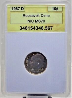 1987 D ROOSEVELT DIME NIC 346154346 567