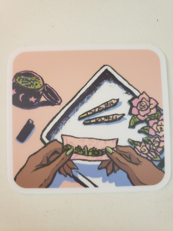 Rolling Tray Sticker