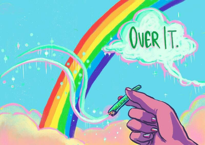 Over The Rainbow joint poster
