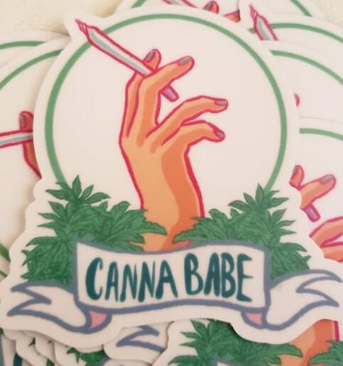 Cannababe Sticker
