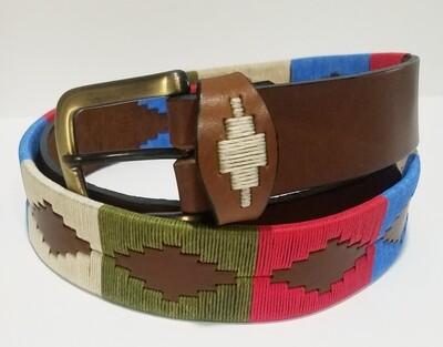 Leather stitched Polo Belt Unico 95CM