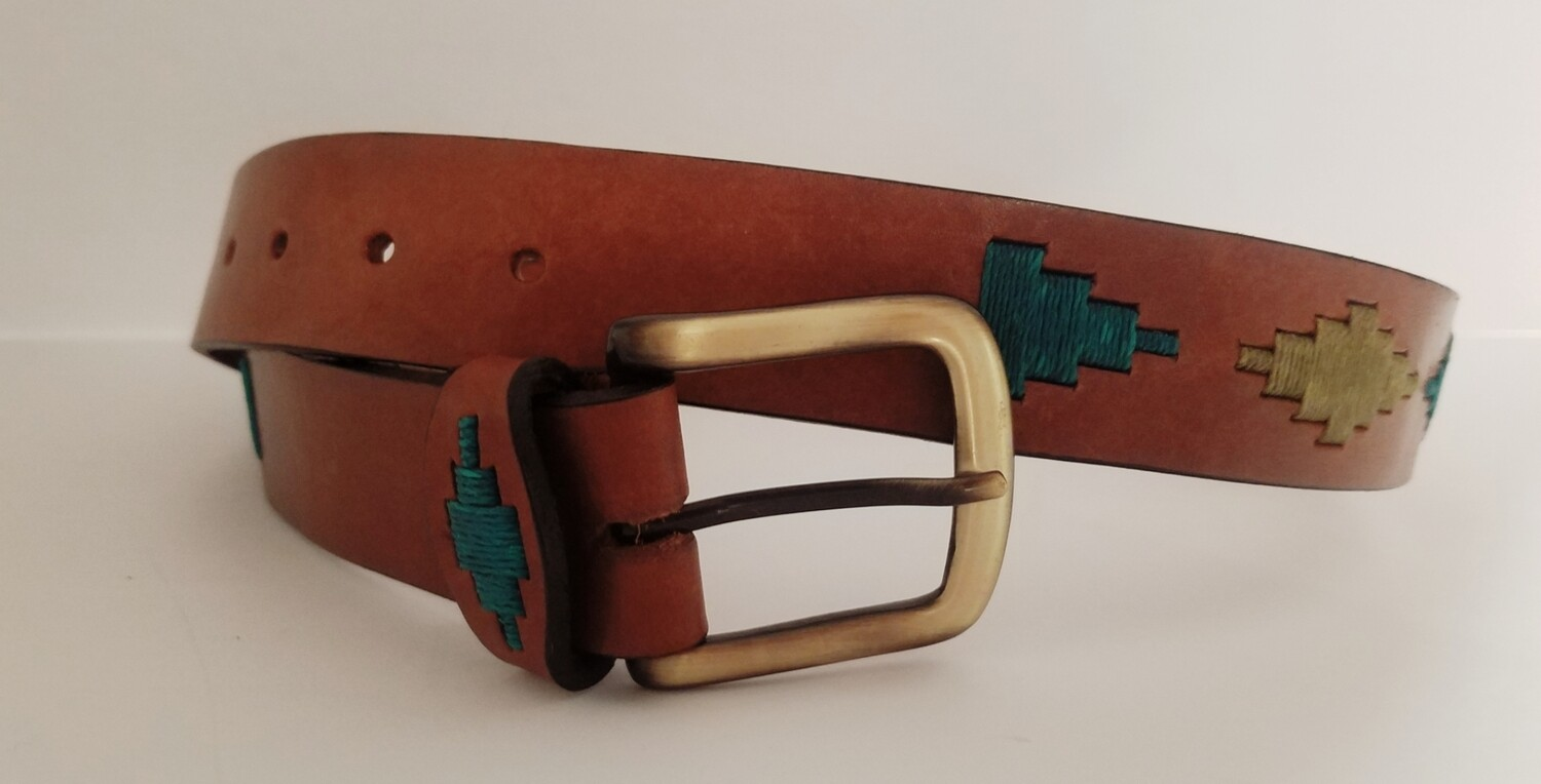 Leather stitched Polo Belt Siempre Verde *DISCONTINUED*