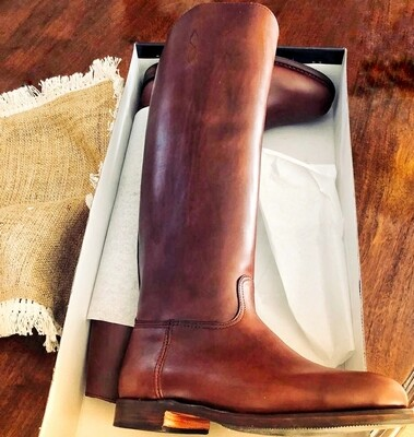 Custom made leather boots