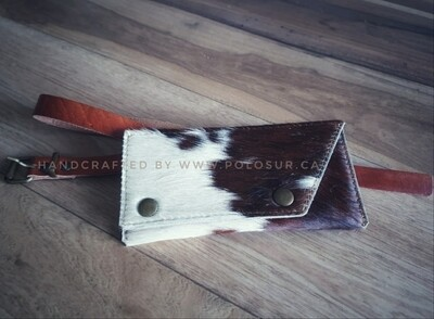 Hair on Cowhide Belt-Purse