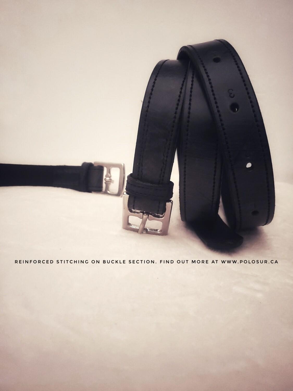Classic Black Stirrup Leathers