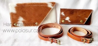 Hair on Cowhide Belt-Purse Grande