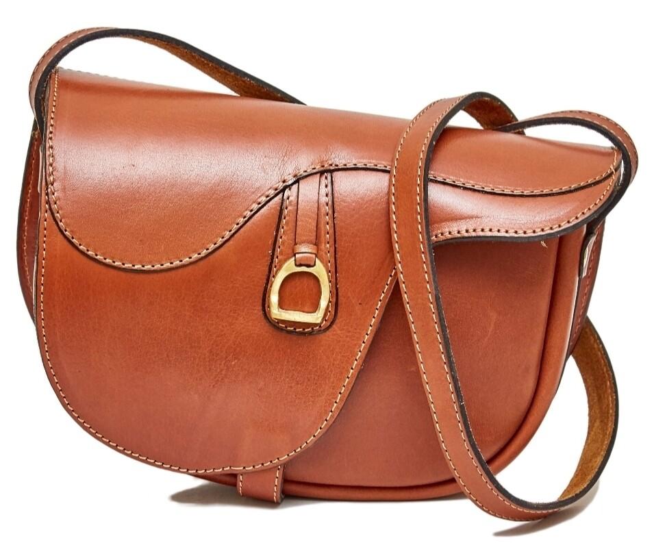 Ara Saddle alike purse cognac