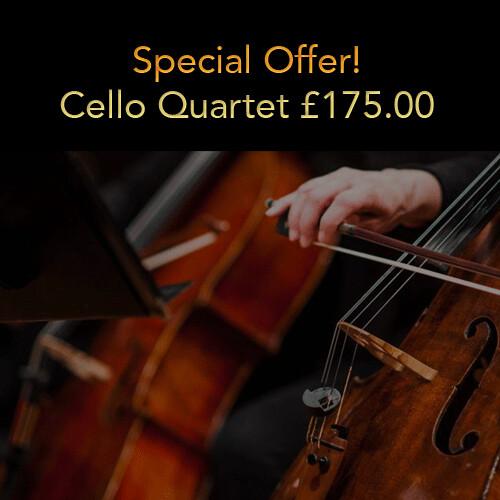 Special Offer! Option 2: Cello Quartet (20% deposit)