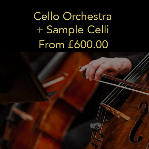 Option 4: Cello Orchestra + Sample Celli (20% deposit)