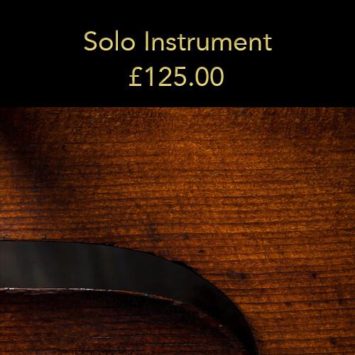Option 1: Solo instrument (20% deposit)