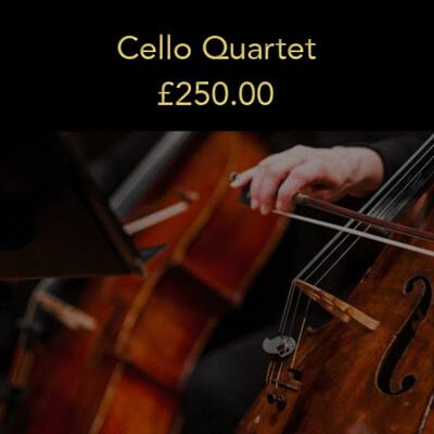 Option 2: Cello Quartet (20% deposit)