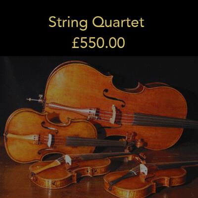 Option 5: String Quartet (20% deposit)