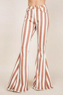 [PREORDER] Tall Boho Striped Denim Flares