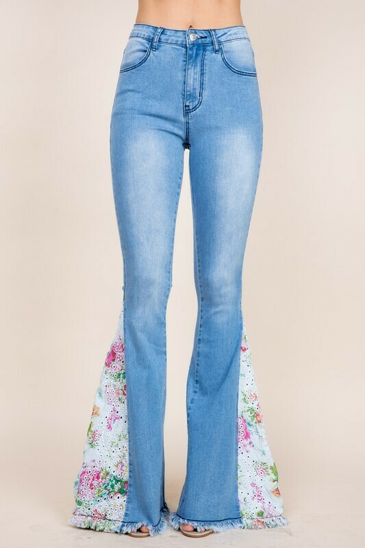 [PREORDER] Tall Light Denim Bell Bottom Flares