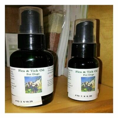 Flea n Tick Oil For Dogs, Medium 2 oz.