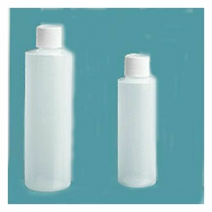 Bottle Plastic White Cap 4 oz.