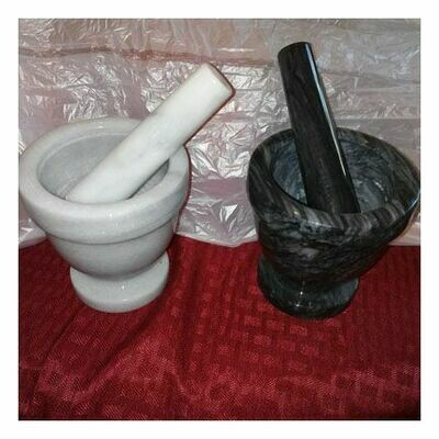 Black Soapstone Mortar And Pestle