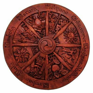Wheel of the Year Statuary, Wood