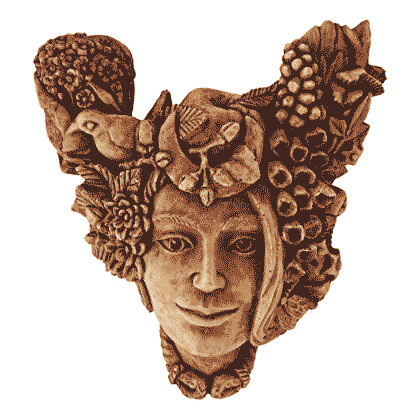 Earth Mother Head, Wood