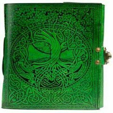 Journal Green Tree Of Life  w/Latch