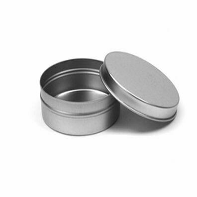 Tin Cylinder 4 oz. Flat