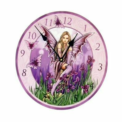 Clock Purple Fairy
