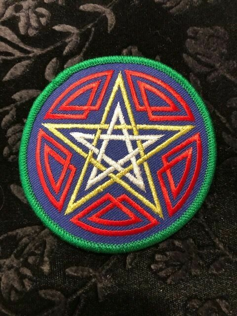 Patches, Wiccan, Celtic Pentagram