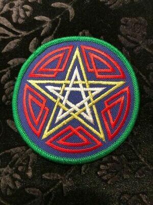 Patch Wiccan Celtic Pentagram