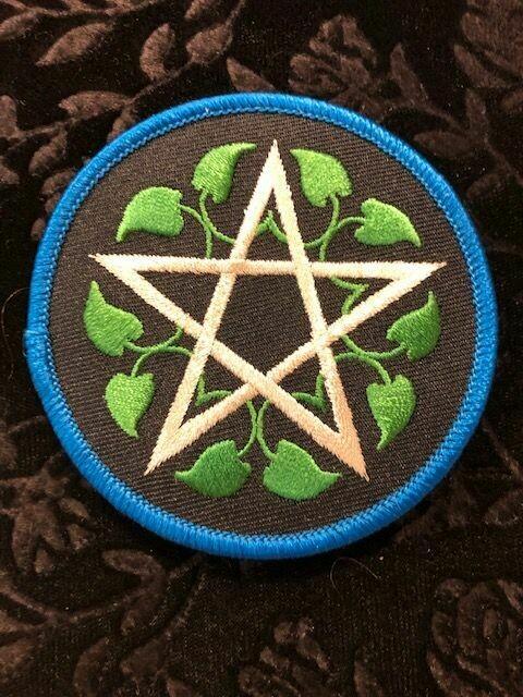 Patch Wiccan Leafy Pentagram