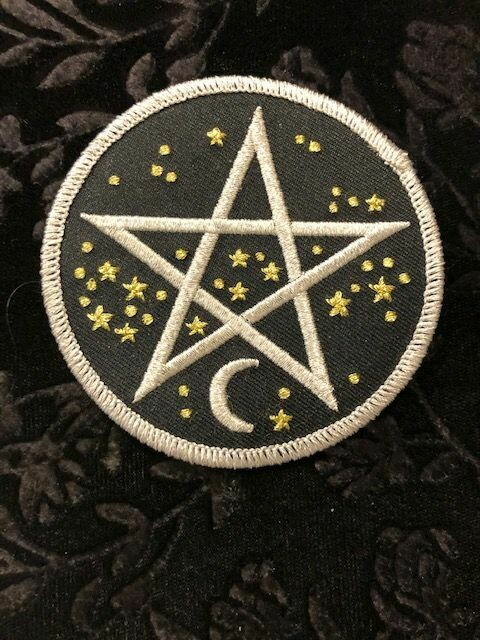Patch Wiccan Starry Pentacle