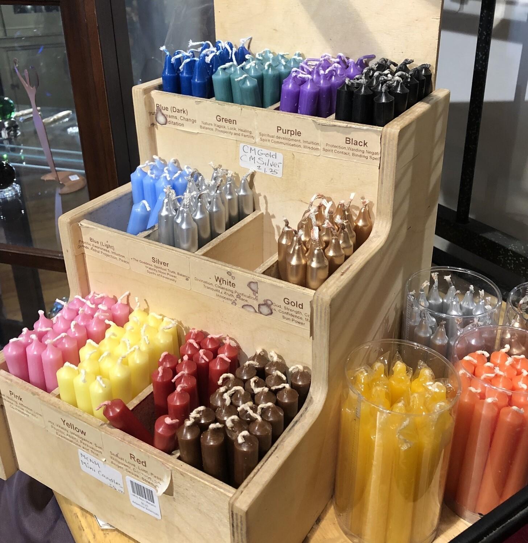 Candle, Mini, Metallic Colors