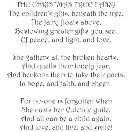 Stamp Christmas Tree Fairy Verse