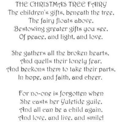 Stamp Christmas Tree Fairy Verse