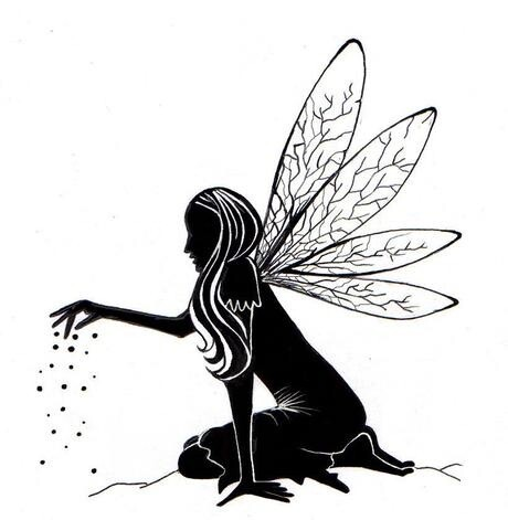 Stamp Fairy Dust Silhouette
