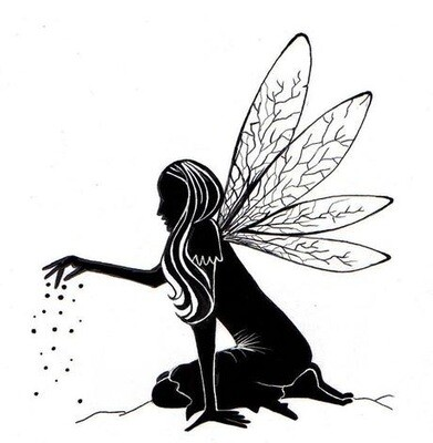 Stamp-Fairy Dust Silhouette
