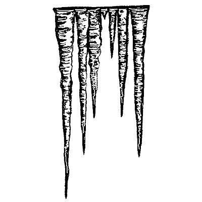 Stamp Icicles
