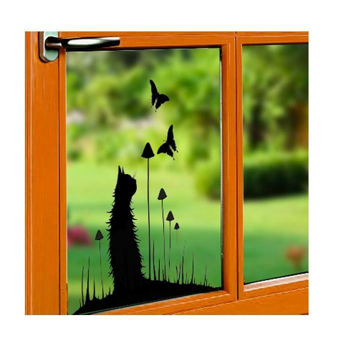 Window Cling-Chasing Butterflies