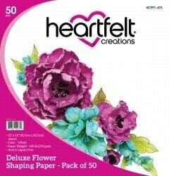 Paper Pack of 50, White, Deluxe Flower Shaping