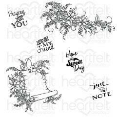 Stamp Set - Sweet Lilac Scroll & Notes Cling