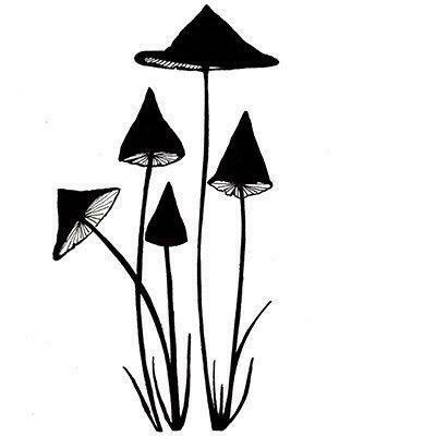 Stamp Slender Mushrooms