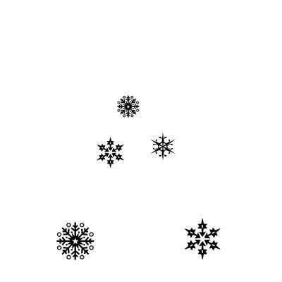 Stamp-Snowflakes