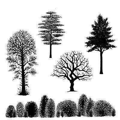 Stamp Tree Scene