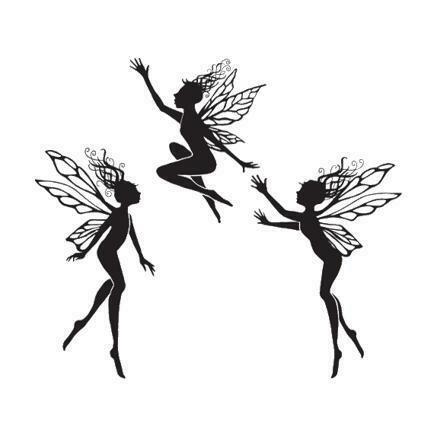 Stamp Three Dancing Fairies