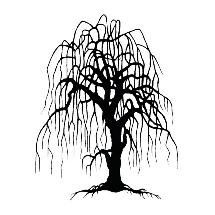 Stamp Weeping Willow Tree