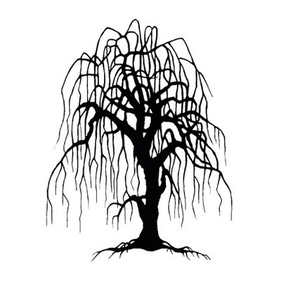 Stamp-Weeping Willow Tree
