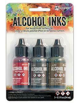 Alcohol Ink 3 Kit Tuscan Garden