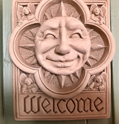 Welcome Sun Plaque